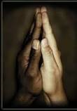Black and White Praying hands