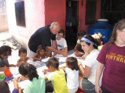 Working with children at the Managua dump