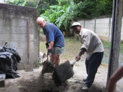 Working hard in Nicaragua